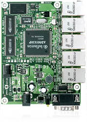 RB/150 RB150 Mikrotik RouterBOARD 150 with 175MHz MIPS CPU, 32MB RAM, 5 10/100 ethernet ports, RouterOS L4 - EOL (End of Life)