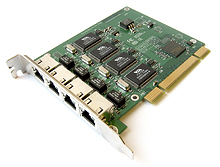 IN/E44 Mikrotik RouterBOARD RB44 PCI 4-port Fast Ethernet adapter (VIA VT6106HG Chipset)