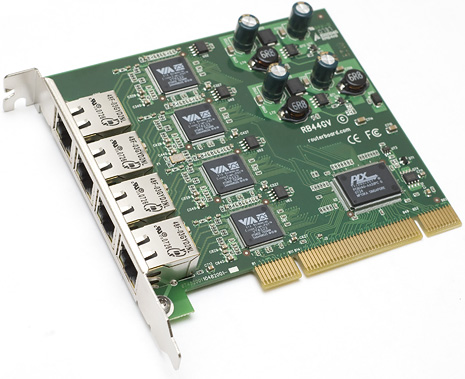 Gigabit Ethernet Port on Rb44gv Pci 4 Port Gigabit Ethernet Adapter  Via Vt6122 Chipset