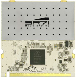 Ubiquiti SR71-15 5GHz 500mW avg Tx power 2x2 MIMO 802.11a/n based carrier class radio module