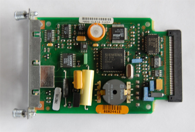 Cisco  wic-1b-u  1 port ISDN BRI with NT1 interface card