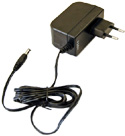 18POW-EU Mikrotik 24vdc, 19 watt universal switching power supply with 2.1mm DC plug and Type C Euro plug