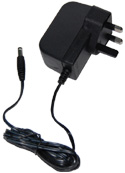 18POW-UK Mikrotik 24vdc, 19 watt universal switching power supply with 2.1mm DC plug and Type G UK plug