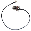 AC/MMCX 10 inch (260mm) long Right Angle MMCX-Nfemale pigtail cable