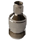 RPSMA Male to N Female Adapter. Gold Plated Contacts