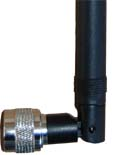 ANT-7OMNI-24-NM 2.4GHz 7dBi Omnidirectional Rubber Duck style antenna with swivel and N-Male connector (for indoor use)