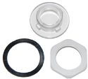 ARC-IX2100B01 Transparent Gen II Plastic Plug with Gasket and Nut - ARC Wireless