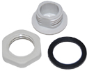 ARC-IX9010B01 N Hole Plastic Plug with Gasket and Nut - ARC Wireless