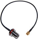 CA100-NFB-RSMAM-12 RP-SMA Male to N-Female bulkhead pigtail cable  12 inches (310mm) long