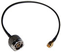 CA100-NM-RSMAM-12 RP-SMA Male to N-Male pigtail cable  12 inches (310mm) long