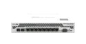 Mikrotik RouterBoard CCR1009-8G-1S-1S+PC High Performance Cloud Core Router with 8-10/100/1000 ethernet ports, 1 SFP port, 1 SFP+ port, external power supply and RouterOS Level 6 license - New!
