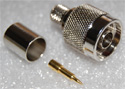 N-Male Crimp Connector for LMR-400, RG8/U 50 ohm cable