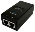 POE-15  Ubiquiti Networks 15vdc, 12 watt switching power supply with POE - includes USA power cord