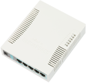 Mikrotik RouterBoard RB260G RB260GS Smart Gigabit Switch with five-10/100/1000 ethernet ports, one SFP port, and SwOS - New!