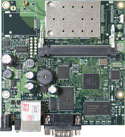 RB/411AR RB411AR Mikrotik RouterBOARD 411A with 300MHz AR7130 CPU, 64MB DDR RAM, 1 LAN, 1 miniPCI, 64MB NAND, RouterOS L4 and 802.11b+g radio - New