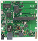 RB411UAHL RB/411UAHL Mikrotik RouterBOARD 411 with 680MHz Atheros CPU, 64MB DDR RAM, 1 LAN, 1 miniPCIe, 1 USB, 64MB NAND, RouterOS L4