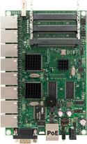 RB/493G RB493G Mikrotik RouterBOARD 493 with 680MHz Atheros AR7161 Network Processor, 256MB RAM, 9 Gigabit LAN, 3 miniPCI, USB, RouterOS L5 - New!