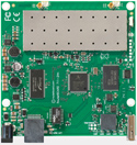 RB711GA-5HnD Mikrotik RouterBOARD 711 with Atheros AR7240 400MHz CPU, 64MB DDR RAM, 5GHz 802.11a/n dual chain radio, and RouterOS L4