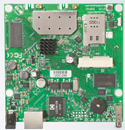 RB912UAG-2HPnD Mikrotik RouterBOARD 912G with Atheros AR9342 600MHz CPU, 64MB DDR RAM, 2.4GHz 802.11b/g/n dual chain radio, and RouterOS L4