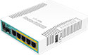 Mikrotik RouterBoard RB960PGS hEX PoE 5 port 10/100/1000 switch and/or router with PoE output on ports 2-5 and SFP - New!
