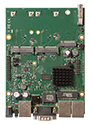 RBM33G Mikrotik RouterBOARD M33G with MediaTek MT7621A Dual Core 880MHz CPU, 256MB DDR3 RAM, 3 Gigabit LAN, 2 miniPCIe, 2 SIM slots, 1 USB 3.0, 1 RS232 serial port, 16MB NAND with RouterOS L4 - New!