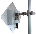 Assembled Outdoor Radio - ARC Wireless 5GHz 23dBi antenna, LED window, Mikrotik RouterBoard, radio, and POE supply