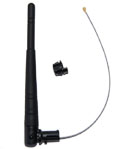 AC/SWI-UFL 2.4-5.8 GHz 2.5dBi/5.5dBi Omnidirectional Swivel Antenna with cable and U.fl connector (for indoor use)