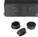 Mikrotik RouterBoard Black Plastic Plugs for Indoor Case Antenna Holes - Universal type