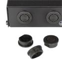 Mikrotik RouterBoard Black Plastic Plugs for Indoor Case Antenna Holes - Universal type
