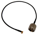 CA100-NM-MMCX-12 Right Angle MMCX to N-Male pigtail cable  12 inches (310mm) long