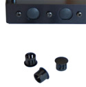 Black Plastic Plugs for Mikrotik RouterBoard Antenna Holes - 12 pieces - swivel-type