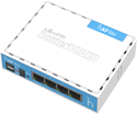 Mikrotik RouterBoard RB941-2nD home Access Point lite (hAP lite), 4 ethernet ports, 2.4GHz dual chain wireless, very low cost - New!