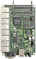 RB/192 RB192 Mikrotik RouterBOARD 192 with 175MHz MIPS CPU, 32MB RAM, 9 LAN, 2 miniPCI, RouterOS L4 - EOL (End of Life)