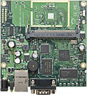 RB/411A RB411A Mikrotik RouterBOARD 411A with 300MHz AR7130 CPU, 64MB DDR RAM, 1 LAN, 1 miniPCI, 64MB NAND with RouterOS L4 - EOL (End of Life)