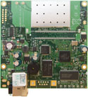 RB/411R RB411R Mikrotik RouterBOARD 411 with 300MHz AR7130 CPU, 32MB DDR RAM, 1 LAN,, 64MB NAND, RouterOS L3 and 100mW 802.11b+g radio