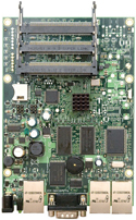 RB/433AH RB433AH Mikrotik RouterBOARD 433AH with Atheros AR7161 680MHz Network CPU, 128MB DDR RAM and RouterOS Level 5