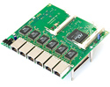 RB/564  RB564 Mikrotik Daughterboard adds six 10/100 ethernet and four miniPCI slots to RB/532, RB/532a, and RB/600 - EOL (End of Life)