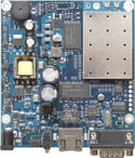 RB/CRD RBCRD Mikrotik RouterBOARD Crossroads with 184MHz MIPS CPU, 32MB RAM, one LAN, integrated high power 2.4Ghz wireless