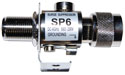 SP6-230-BFM, coaxial lightning protection, 230V-DC to 6GHz, NF to NM .2dB IL@3GHz, .4dB IL@5GHz