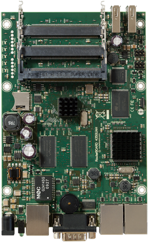 RB/435G RB435G Mikrotik RouterBOARD 435G with Atheros AR7161 680MHz Network CPU, 256MB DDR RAM and RouterOS Level 5