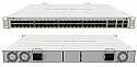 Mikrotik's new Cloud Router Switch CRS354-48G-4S+2Q+RM has 48 x 1G RJ45 ports, 4 x 10G SFP+ ports, and 2 x 40G QSFP+ ports in a 1U rackmount case with dual power supplies!