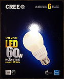 6-pack Cree LED 9.5 Watt ( 60 W equiv) Bulb Soft White Dimmable Light Bulbs A19