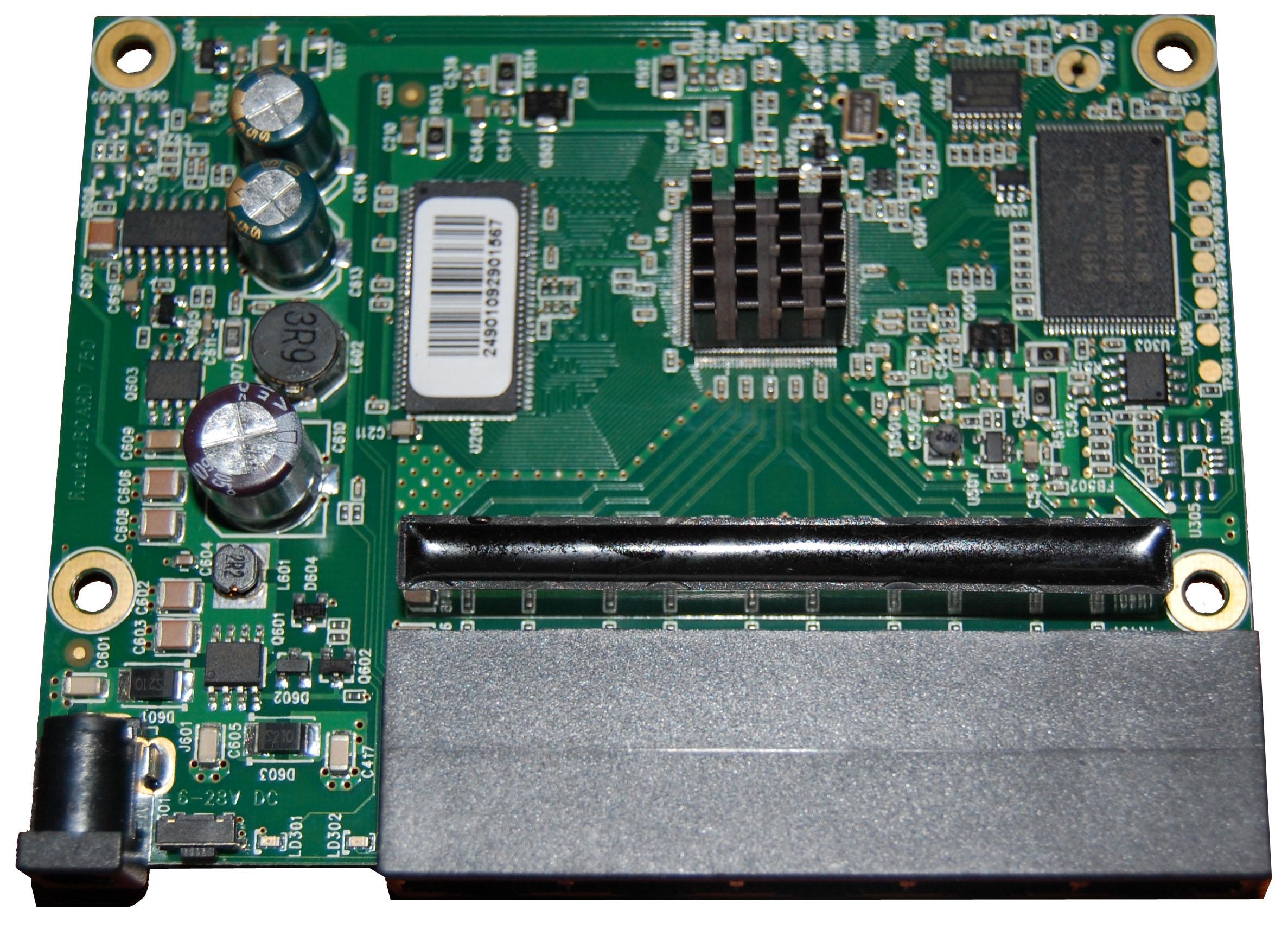 Reset button on RB750 - MikroTik